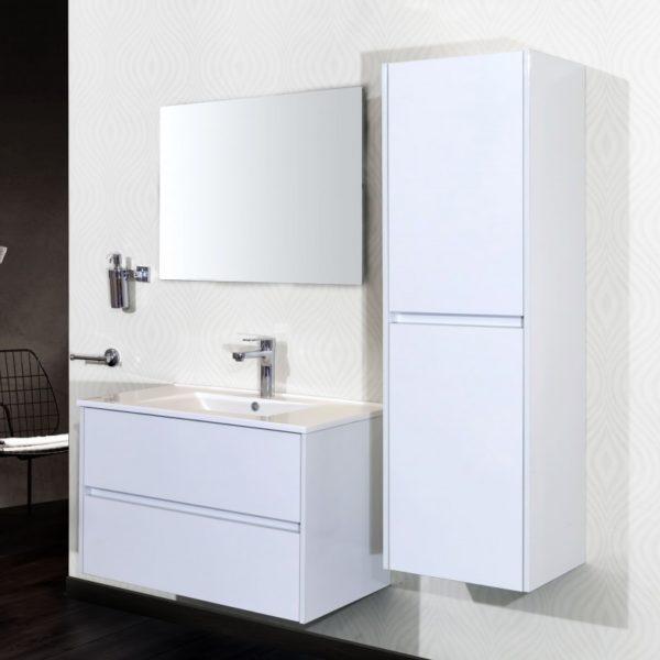 meuble de salle de bain Hayat blanc 60 cm